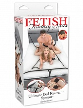 Бандаж для связывания Fetish Fantasy Series Ultimate Bed Restraint System - Black