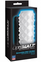 Мастурбатор OPTIMALE Reversible UR3 Stroker Studs прозрачный
