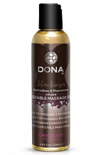 Вкусовое массажное масло  DONA Kissable Massage Oil Chocolate Mousse 125 мл